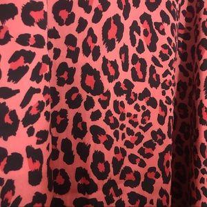 Worthington Skirts - Hot Pink and Black Leopard Print Maxi Midi Skirt